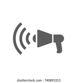 Speaker icon in trendy flat style isolated on white background. Symbol for your web site design, logo, app, UI. Vector illustration, EPS