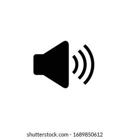 Speaker icon vector. Audio speaker symbol vector