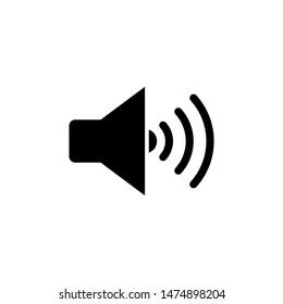 Speaker icon vector. Flat Sound Speakers symbol