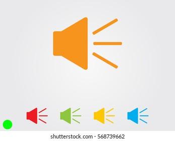 speaker icon, vector illustration eps10