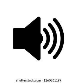 speaker icon vector, on white background editable eps10