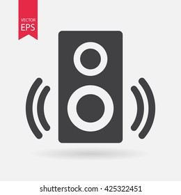 Speaker icon vector, Sound, audio music sign Isolated on white background. Trendy Flat style for graphic design, logo, Web site, social media, UI, mobile app, EPS10