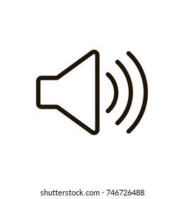 Speaker line icon. High quality black outline logo for web site design and mobile apps. Vector illustration on a white background.
