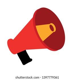 loudspeaker vector images stock photos vectors shutterstock https www shutterstock com image vector speaker megaphone vector icon filled flat 1397779361