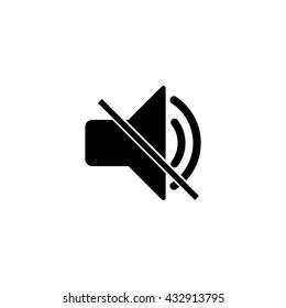 speaker mute icon ui vector eps jpg picture flat app