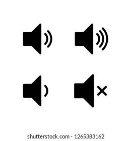 speaker set icon vector, on white background editable eps10