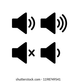 Speaker Set icon vector. symbol for web site Computer and mobile vector.