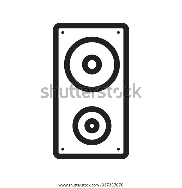 Speaker Sound Music Icon Vector Image Stock Vector (Royalty