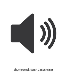 Speaker sound vector icon in modern design style for web site and mobile app