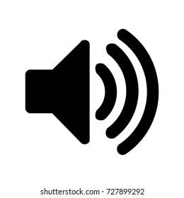 Speaker vector icon.