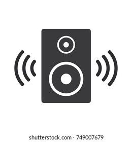 speaker vector icon, audio speaker icon