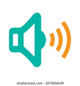 Speaker volume icon - audio voice sound symbol, media music