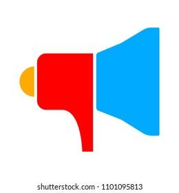 Speaker volume icon - audio voice sound symbol, media music - vector megaphone icon