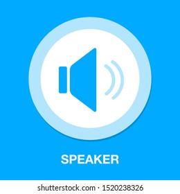 Speaker volume icon - audio voice sound symbol, media music