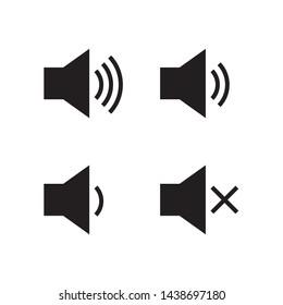 Speaker volume icon in trendy flat style design. Vector graphic illustration. Suitable for website design, logo, app, and ui. EPS 10.