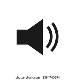 Speaker volume up vector icon. Audio speaker volume and music speaker volume icon illustration in flat style. Auido Volume symbol for perfect mobile and web concept