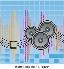 speakers (equalizer and geometrics)