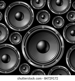 Speakers seamless background - vector pattern for continuous replicate. See more seamlessly backgrounds in my portfolio.