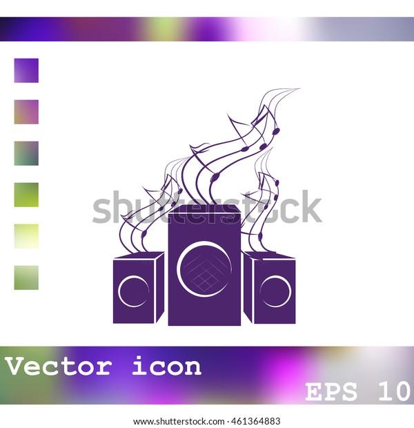Speakers vector icon