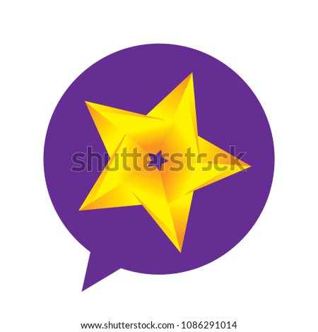 speaking bubble star inside celebrity stars stock vector royalty