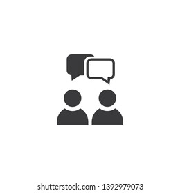 speaking of people, the chat icon stock vector illustration - Vector