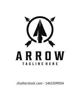Spear, arrow / arrowhead vintage logo