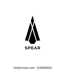 spear head icon logo vector design