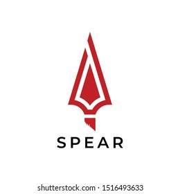 spear head red logo vector
