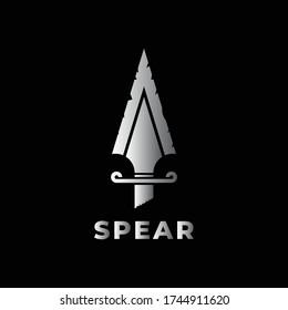 Spear icon logo design vector