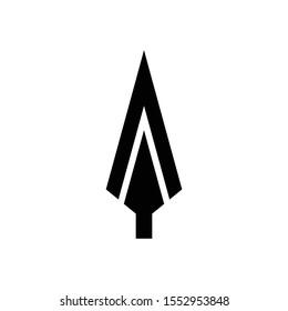 spear logo black icon vector