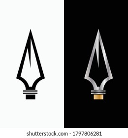 spear logo icon design vector for multiple use