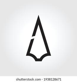 spear logo icon design, vector