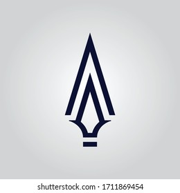 Spear logo icon vector design for multiple use