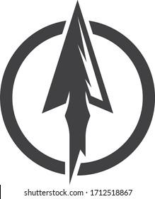 Spear logo vector icon design