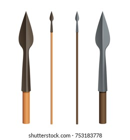 Spear in two colours.