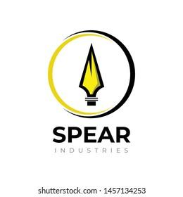 Spear vector logo design concept