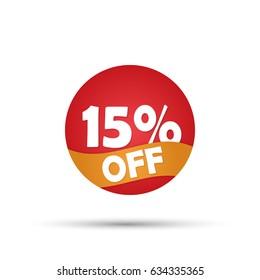 Special 15 percent off discount