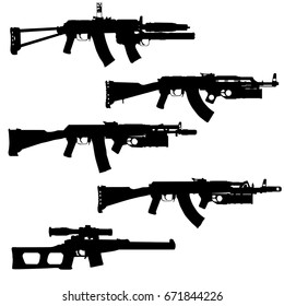 Special assault rifles set, eastern family.