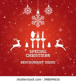 Special Christmas restaurant menu design / Christmas party menu design