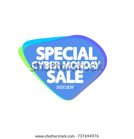 Special Cyber Monday Sale Speech Bubble Stock Vector