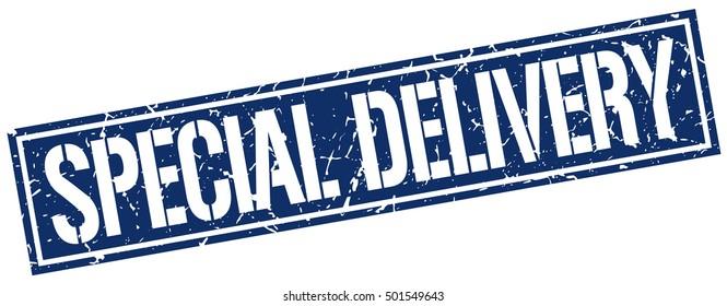 special delivery. grunge vintage special delivery square stamp. special delivery stamp.
