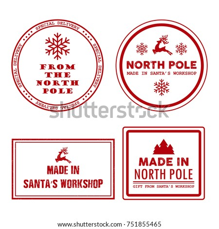 Special Delivery North Pole Made Workshop Stock Vector Royalty Free