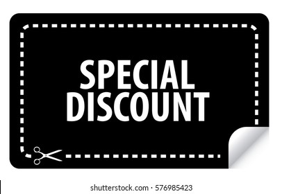 special discount coupon vector