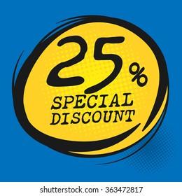 Special Discount label, vector illustration