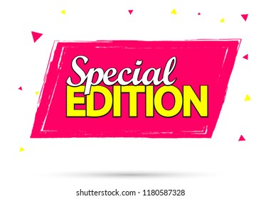 Special Edition, banner design template, promo tag, vector illustration