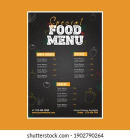 Special Food menu Design Template