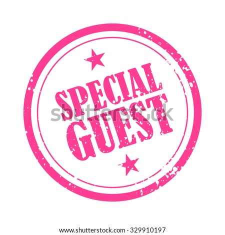 special guest rubber stamp badge template のベクター画像素材