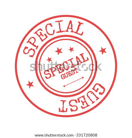 special guest rubber stamp badge template stock vector royalty free