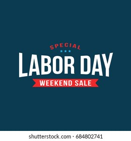 Special Labor Day Weekend Sale Text Treatment, Vector Illustration