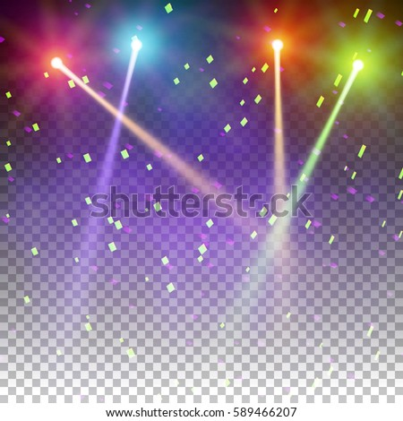 Bright special lighting Nana Special Light Effects Realistic Vector Bright Projectors For Scene Lighting Isolated On Plaid Backdrop Shutterstock Special Light Effects Realistic Vector Bright Stock Vector royalty